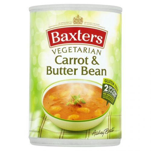 Baxters Vegetarian Carrot and Butterbean Soup - SAVE 34%