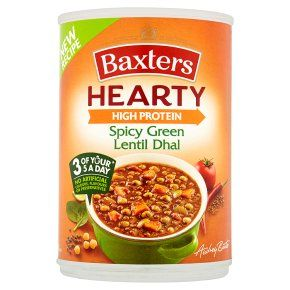 Baxters Hearty High Protein Spicy Green Lentil Dhal Soup
