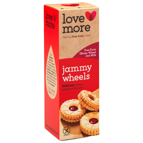 Lovemore Jammy Wheels - Gluten Free - CLEARANCE