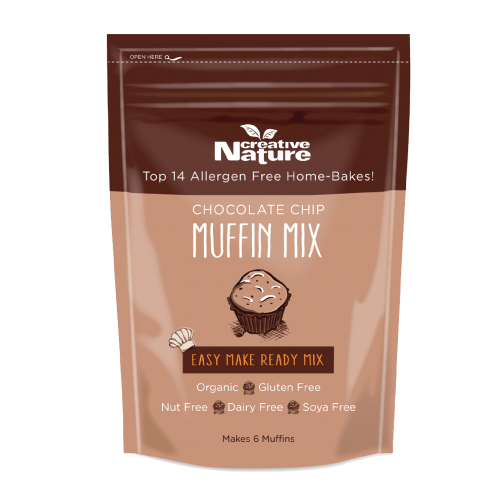 Creative Nature Organic Chocolate Chip Muffin Mix - INTRODUCTORY OFFER 20% OFF