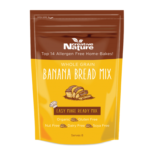 Creative Nature Organic Banana Bread Mix - INTRODUCTORY OFFER 20% OFF