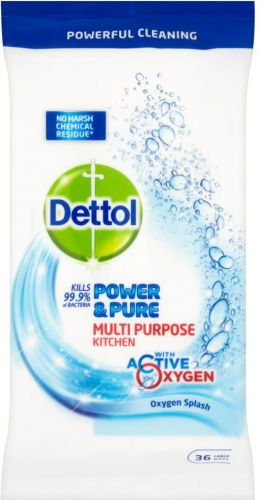 Dettol Power & Pure Kitchen Wipes 36 pack