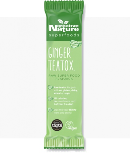 Creative Nature Ginger Teatox Flapjack Bar 20 x 38g - CRAZY CLEARANCE