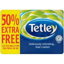 Tetley Tea - 80 pack + 50% extra free